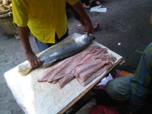 Ikan Kakap segar yg ibu beli di Pasar